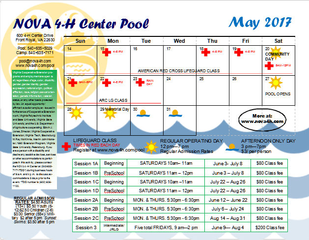 Click to download a printable 2017 Pool Calendar.