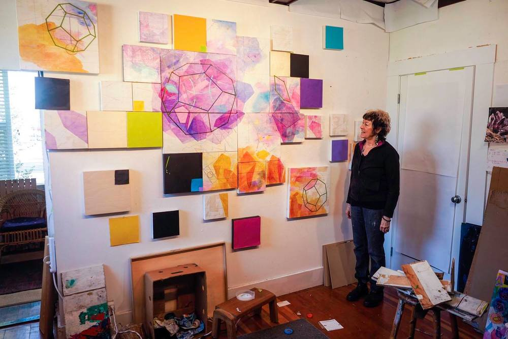 My friend and collaborator Carole Thompson in her studio  - Carole's website:   www.carolethompson.ca  - Photo - Ed Brooks/Backroom Gallery
