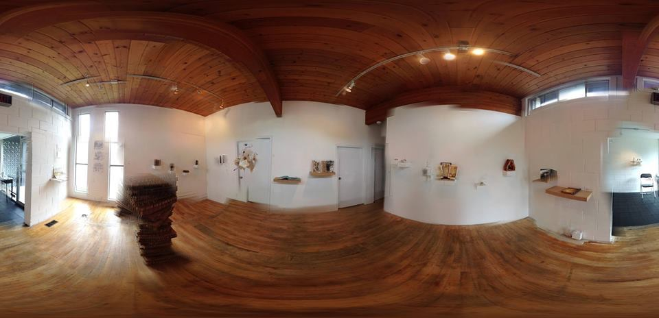 "Panorama of ""REBOUND' at Gallery 1580; photograph by Barry Herring"