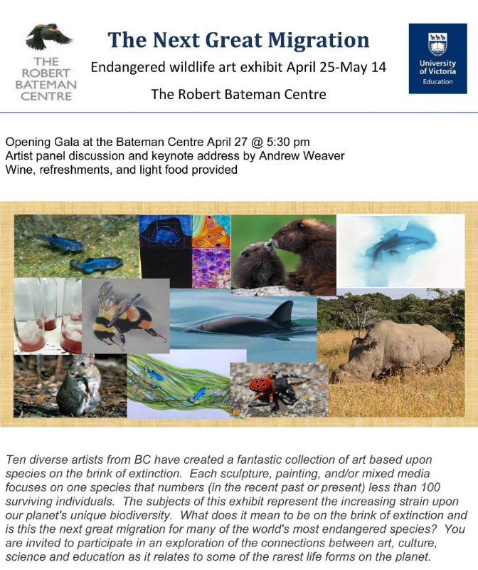 Sponsored by The Robert Bateman Centre and The University of Victoria, Education Program