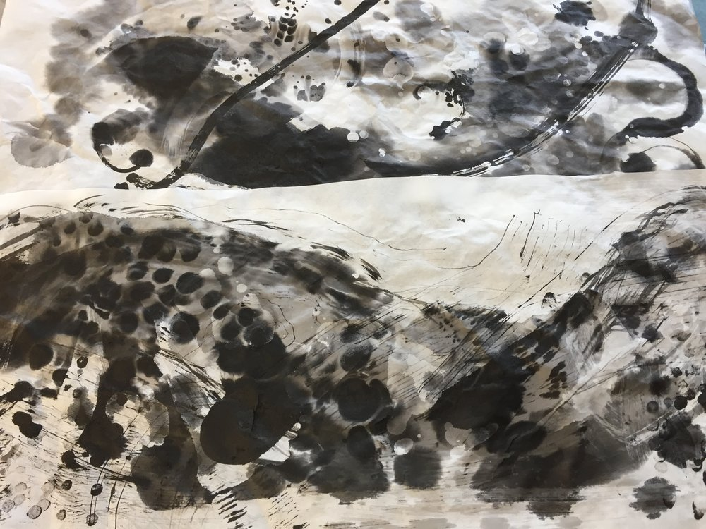 Jill Ehlert - Two Sumi-E ink drawings