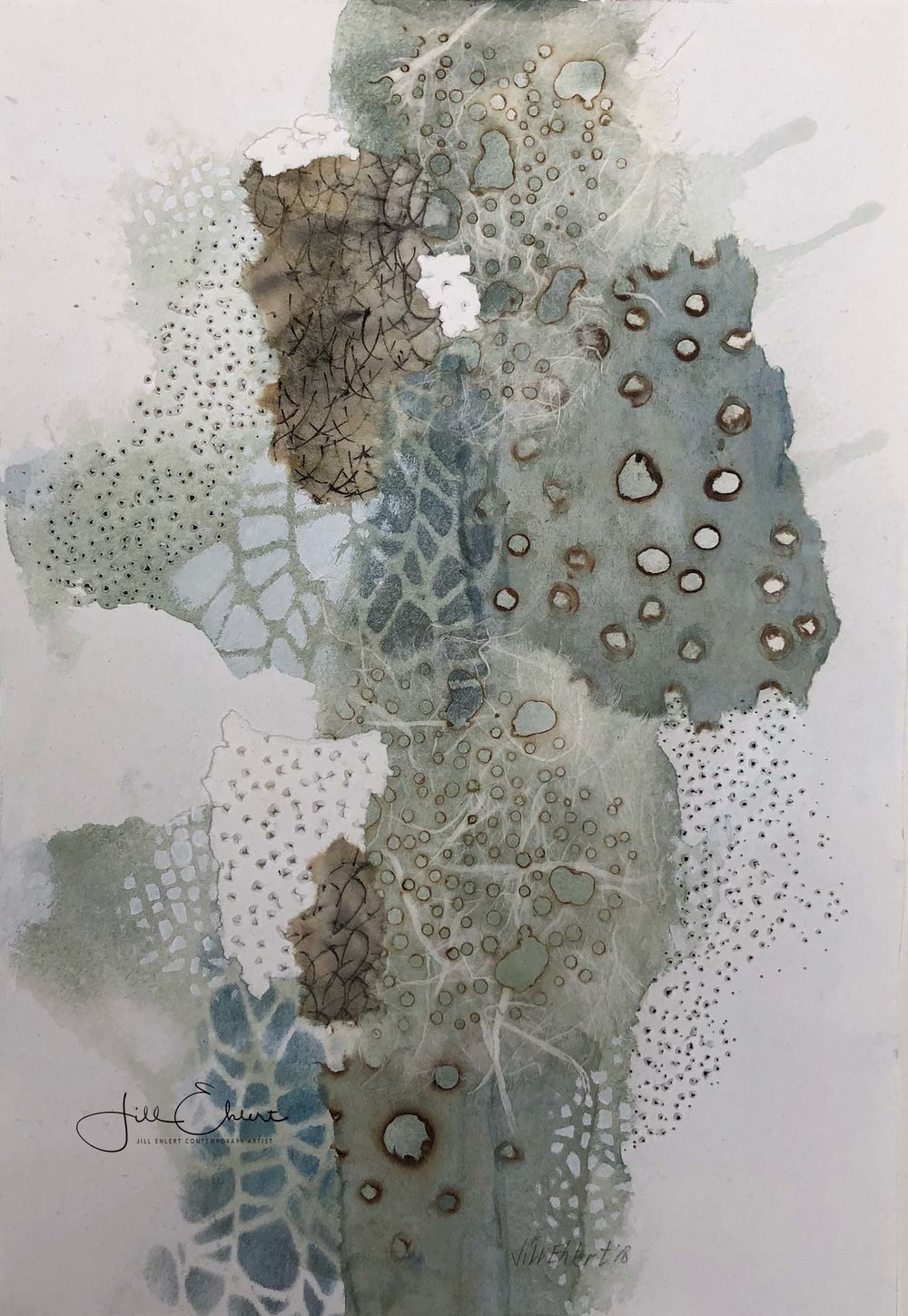 "Rock Pool II - 2018 mixed-media I 11"" X 7.5"