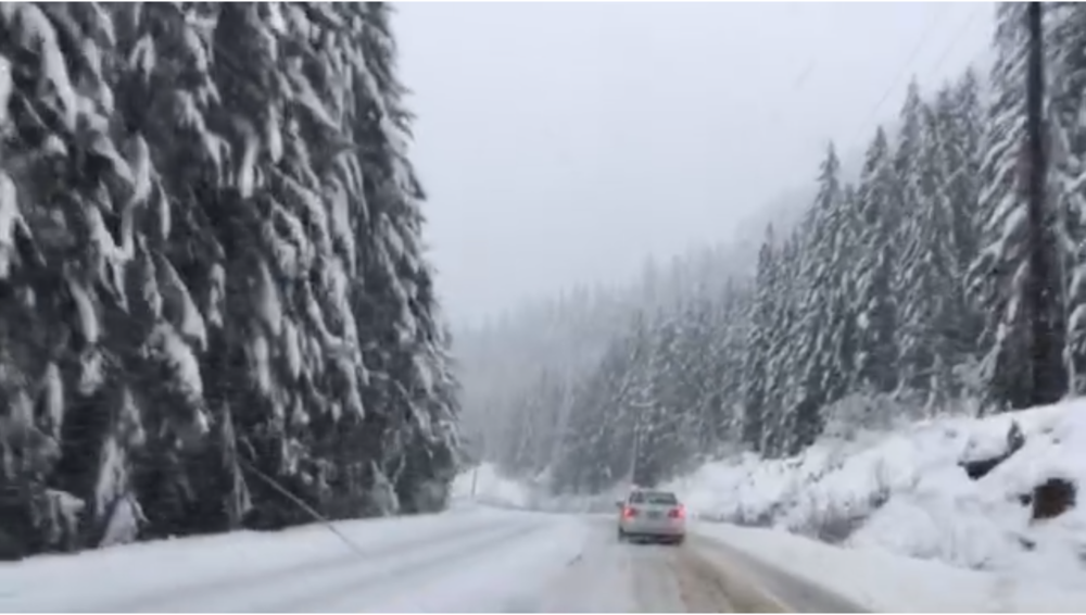 Driving out to the west coast on January 19, 2018.