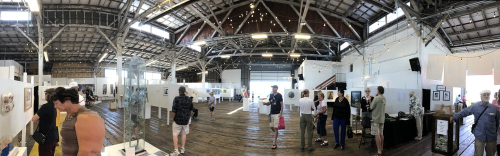 """""""Arts at the Port"""" in the Port Transit Event Center. Anacortes, WA"""