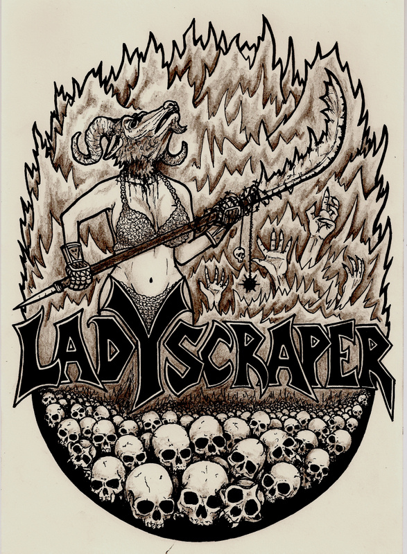 Cover illustration for the Ladyscraper album 'The Death of Mary Poppins' – Cock Rock Disco, 2008