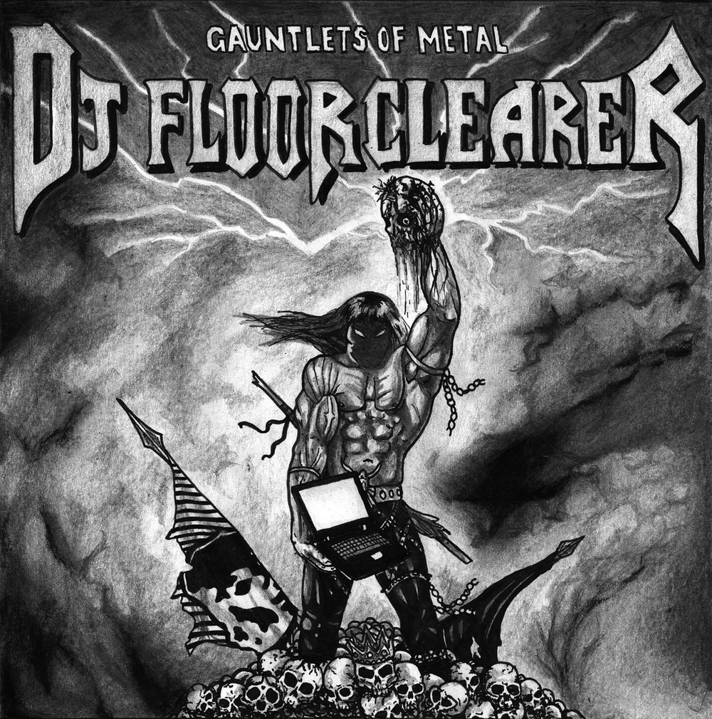 Cover design for an unreleased DJ Floorclearer album, 2007.