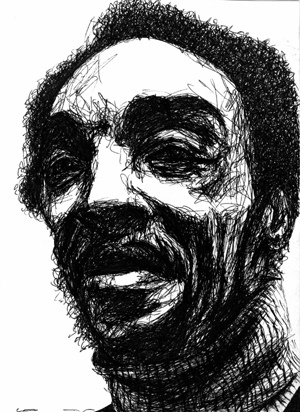 Scribble drawing – Sam Rivers
