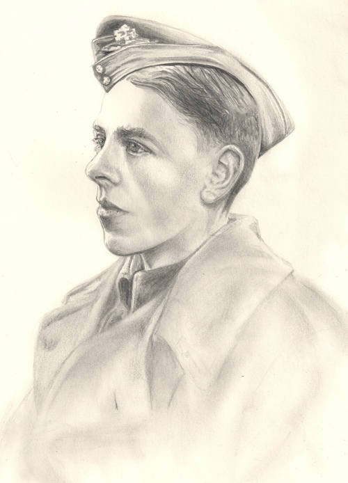 Drawing for my Gran of her brother, Ken Cook, who died in WWII