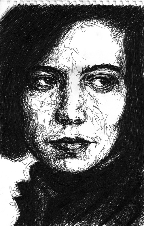 Scribble drawing – Susan Sontag