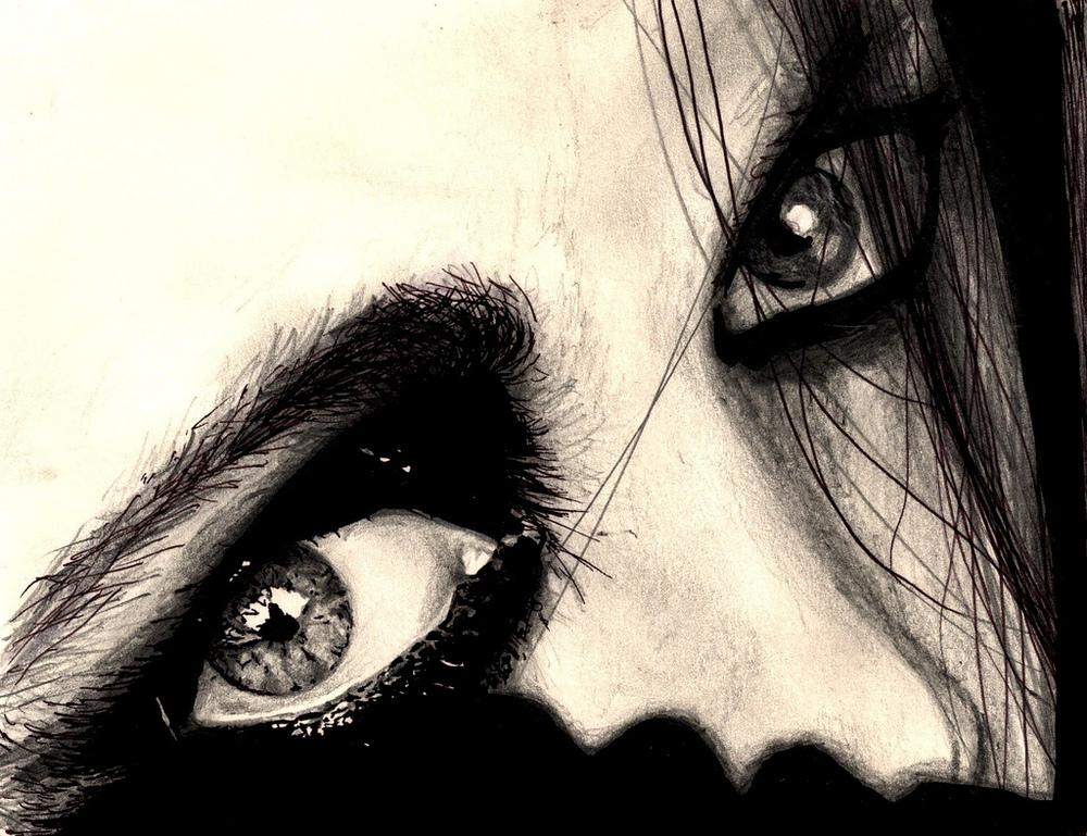 Eyes – pen and pencil