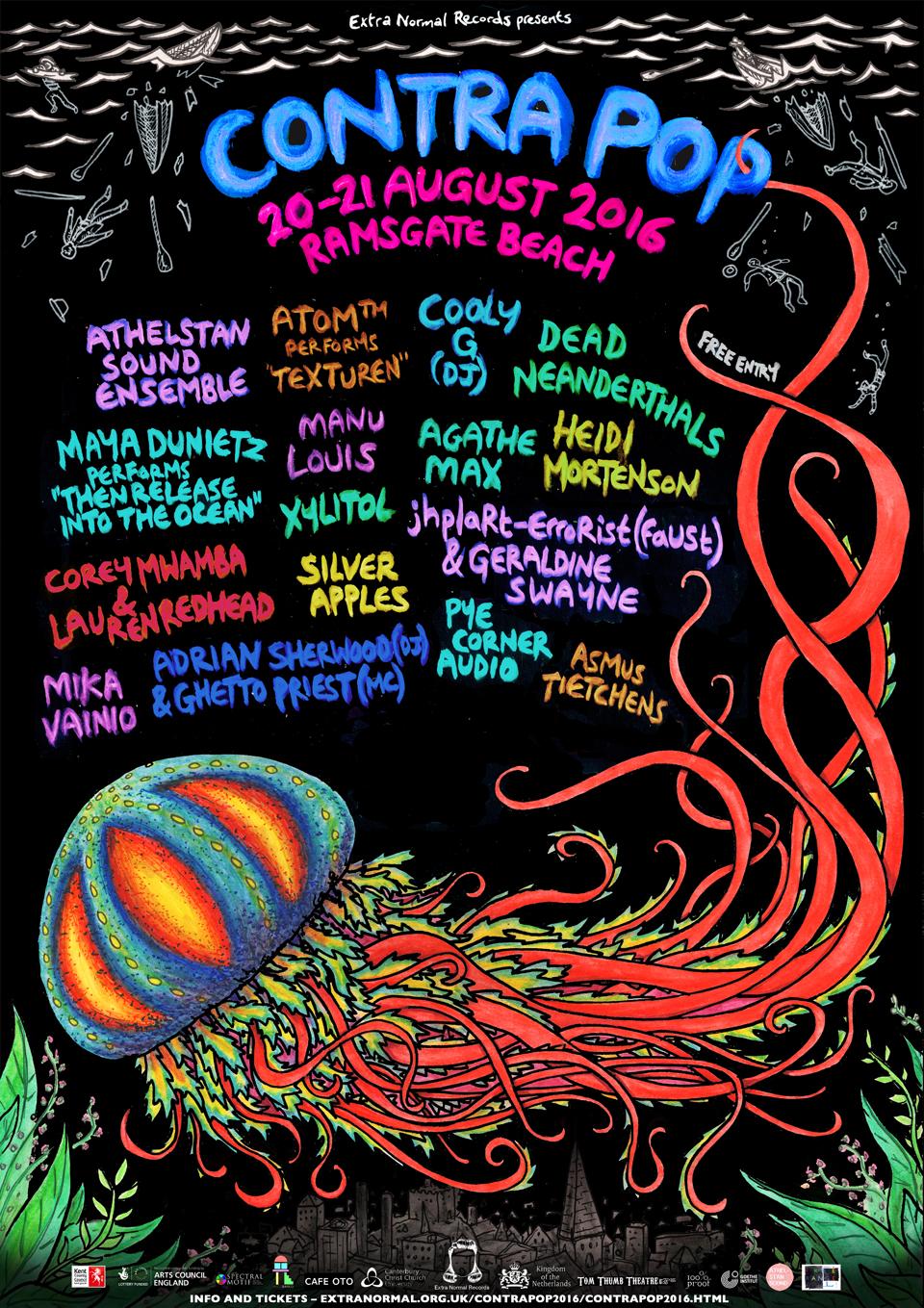 Poster design for Contra Pop Festival, 2016