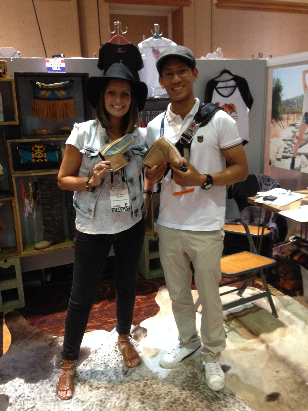 Julie Ellis (Rais Case designer) and Phillip Lapuz at Capsule, Las Vegas