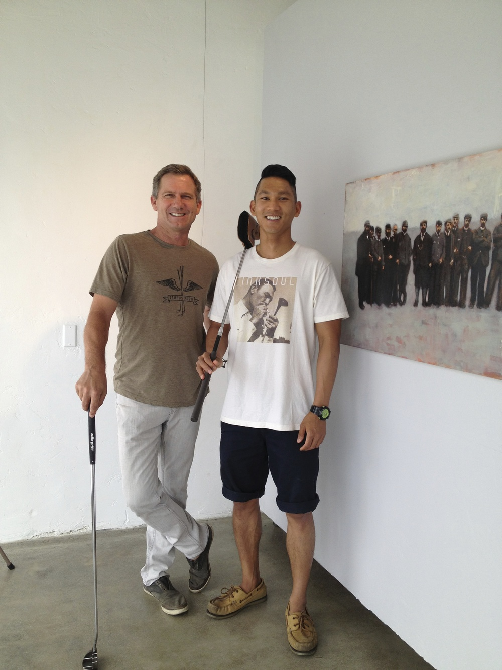 John Ashworth and Phillip Lapuz at Linksoul Lab, Oceanside