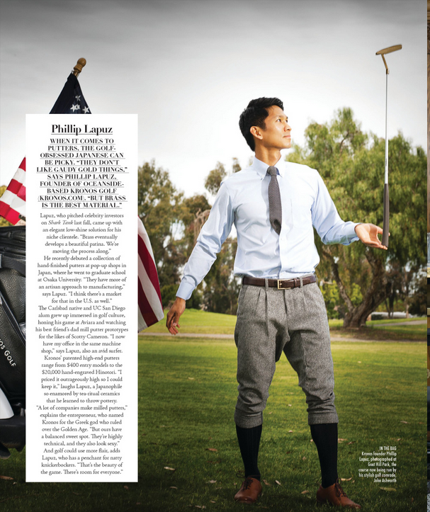 Riviera Magazine interviews Kronos Golf founder Phillip Lapuz