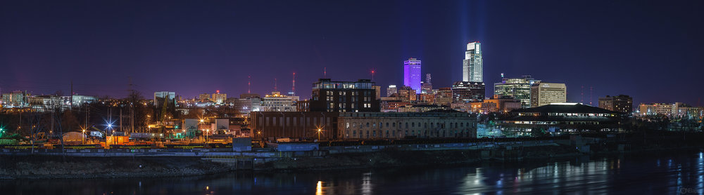 Omaha Night Panorama
