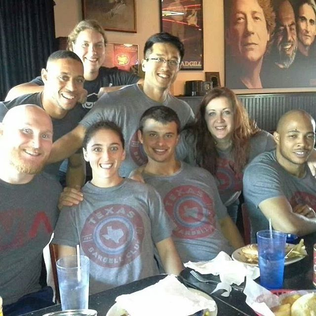 "#flashbackfriday Dinner after #weightliftingwise seminar @grassirongym with some of the #texasbarbellclub OGs. @thomas_lower @samlower13 @cnev100 Coleen lyndon""thebeast""Echels @dat_ancient1 the boss lady herself @texasbarbellclub"