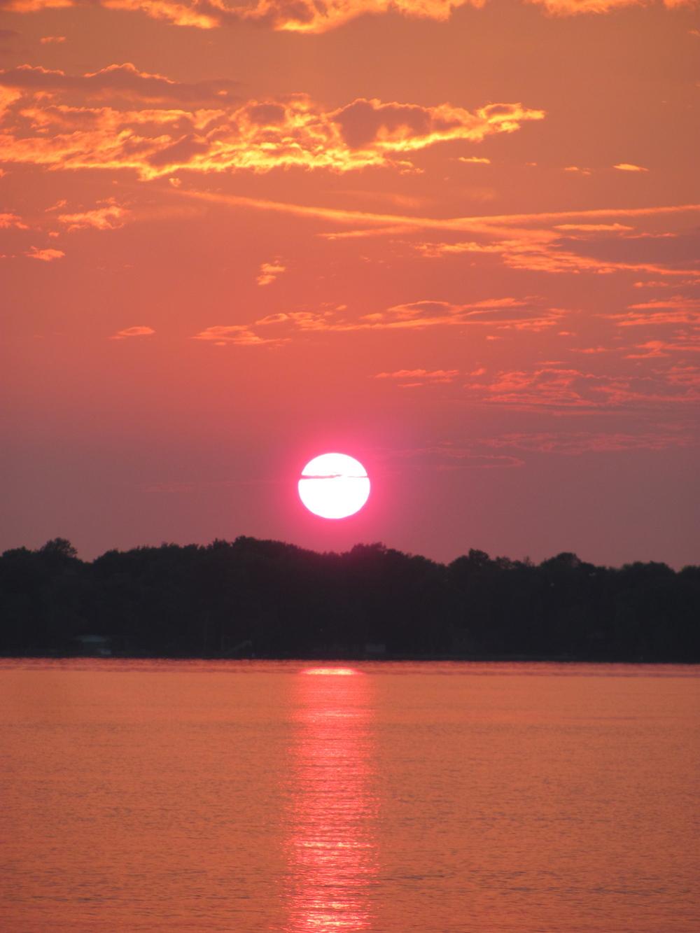 Sunset   Balsam Lake 2011