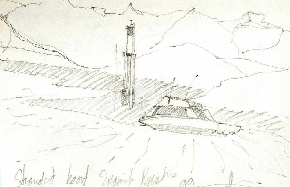 Stranded Boat Spanish Banks  Vancouver, BC 1999