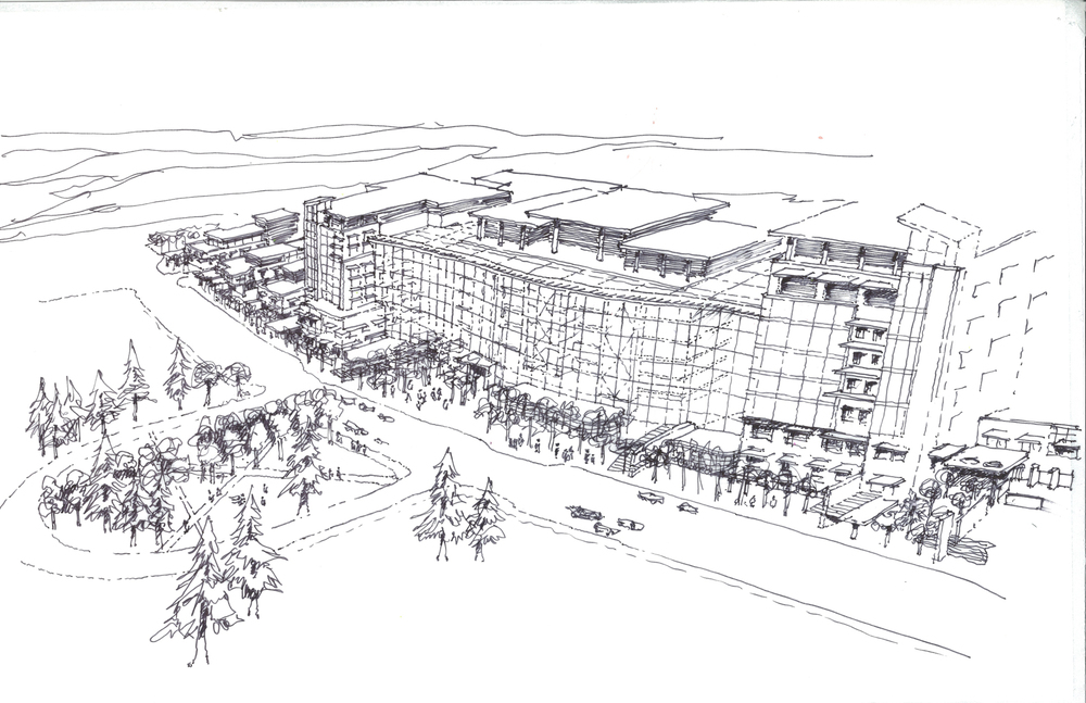 Calgary South Health Campus Phase 1 Concept Sketch