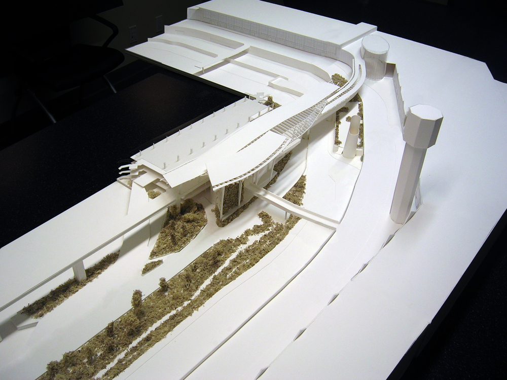 Design Development Model Aerial SW - YVR Airport Station-model by Angela Lee