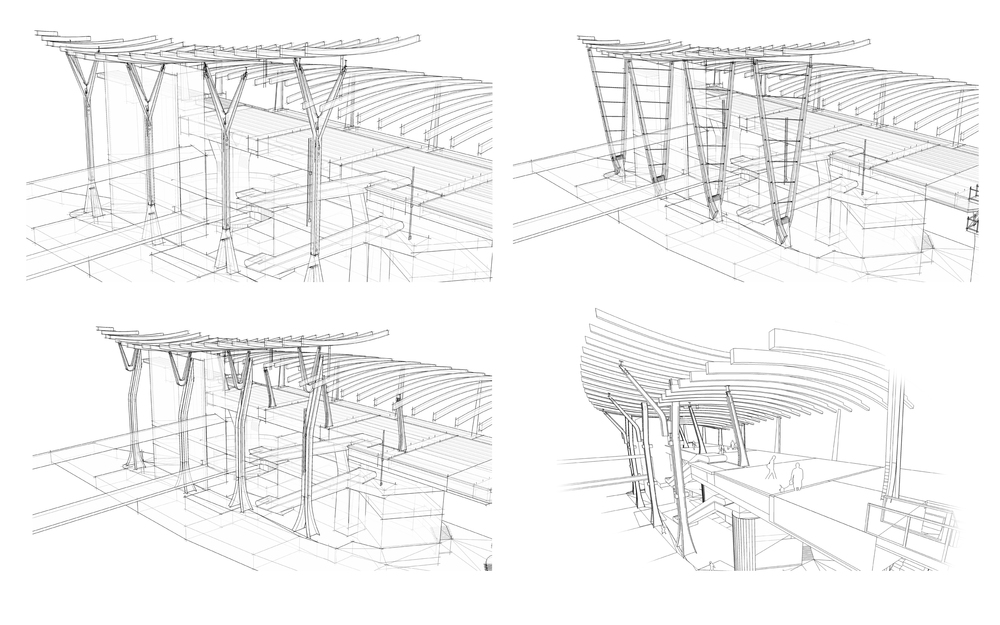 Computer Sketches -  - YVR Airport Station