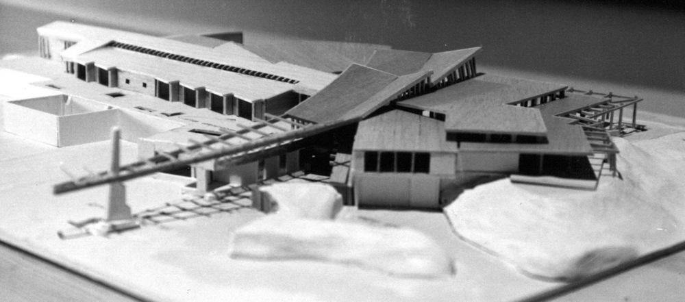 Design Model - Aerial View Of North Elevation + Entry Courtyard