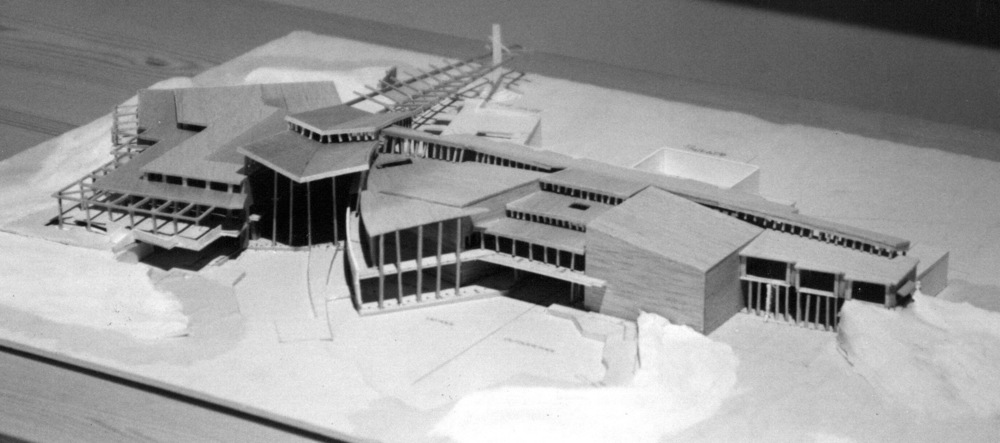Design Model - North Aerial View Over Pools