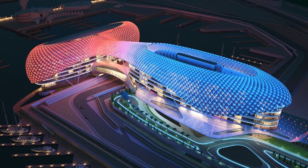Precedent Example - Asymptote Architecture - Yas Hotel, Abu Dhabi