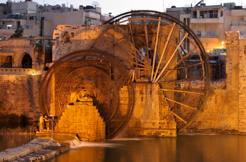 Water Wheel, Hamah, Syria - photo by Suchoji