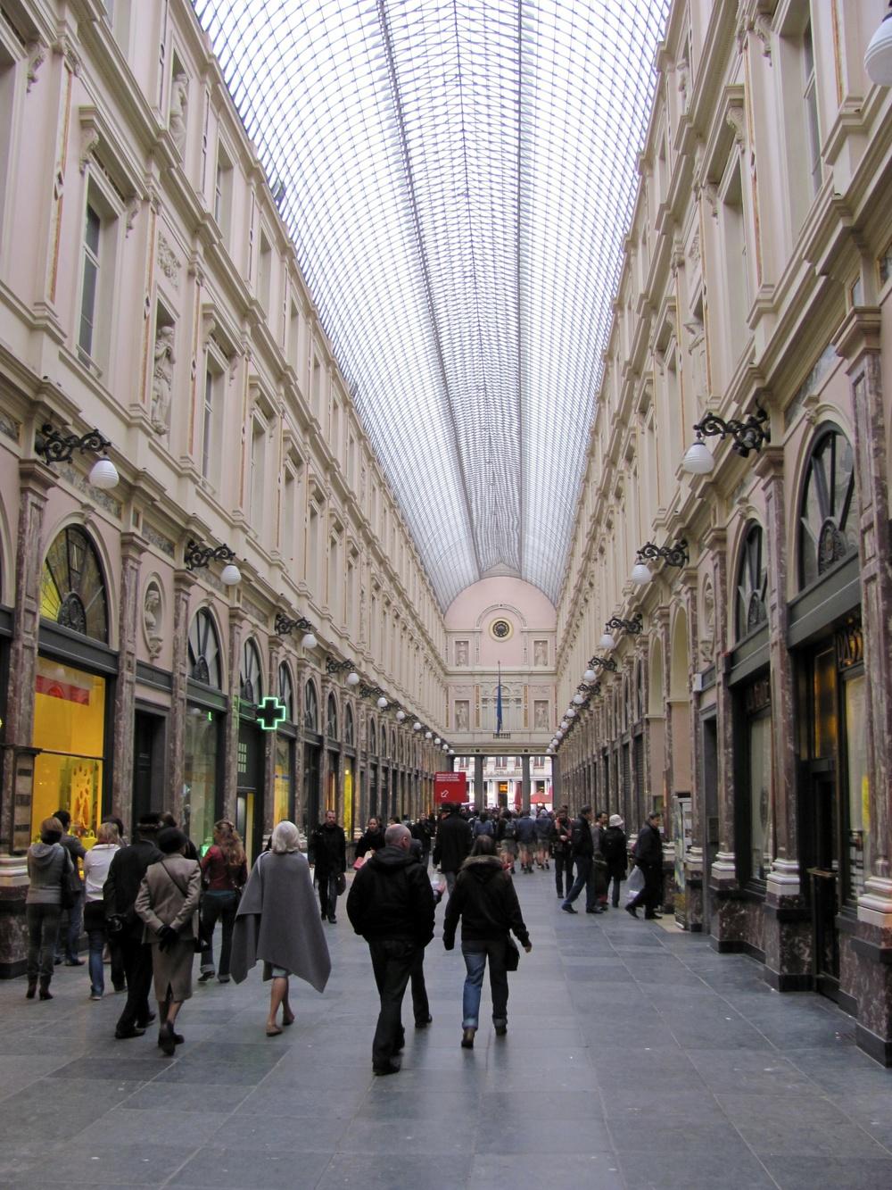 Galeries Royales St. Hubert, Brussels Old City, Belgium, VHS 2010
