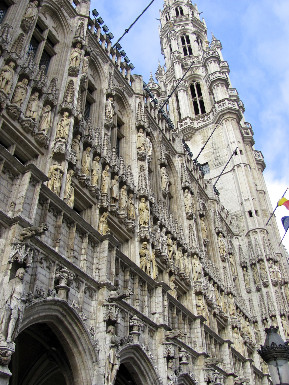 Hotel de Ville de Bruxelles - formerly Town Hall, 15th Century Gothic, Grand Place, Old City Brussels, Belgium, VHS 2010