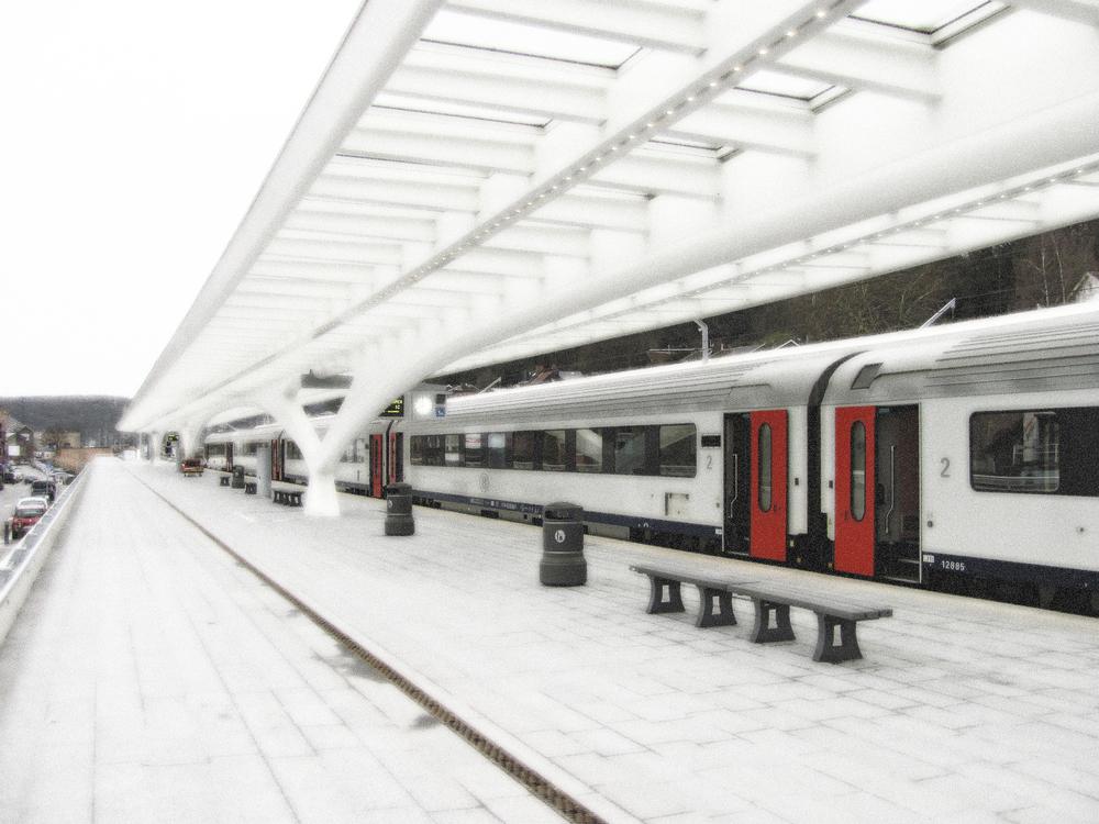 Outbound Platform-1, Train Station, Liege, VHS, 2010