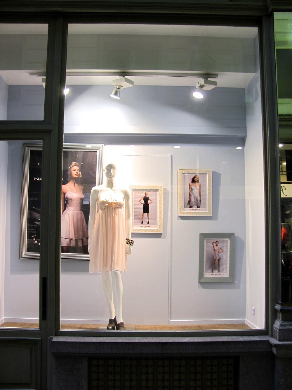 Store front in the Passage du Neuhaus, off Rue Neuve, Brussels, Belgium, VHS 2010