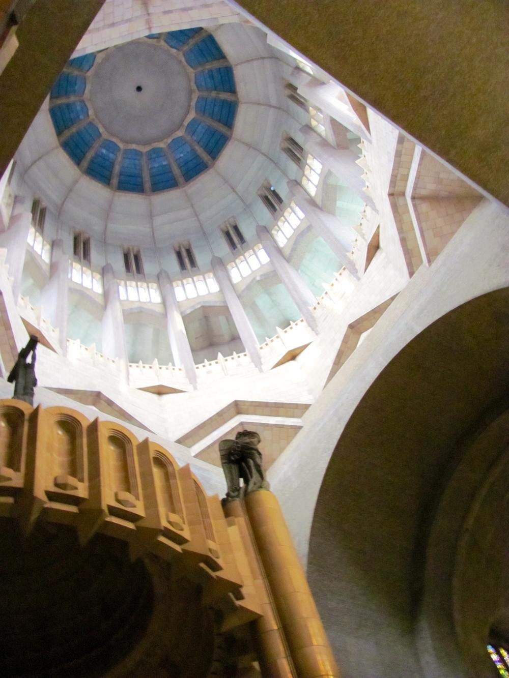 Main dome of the Basilique Nationale du Sacre-Coeur, Brussels, Belgium, VHS 2010