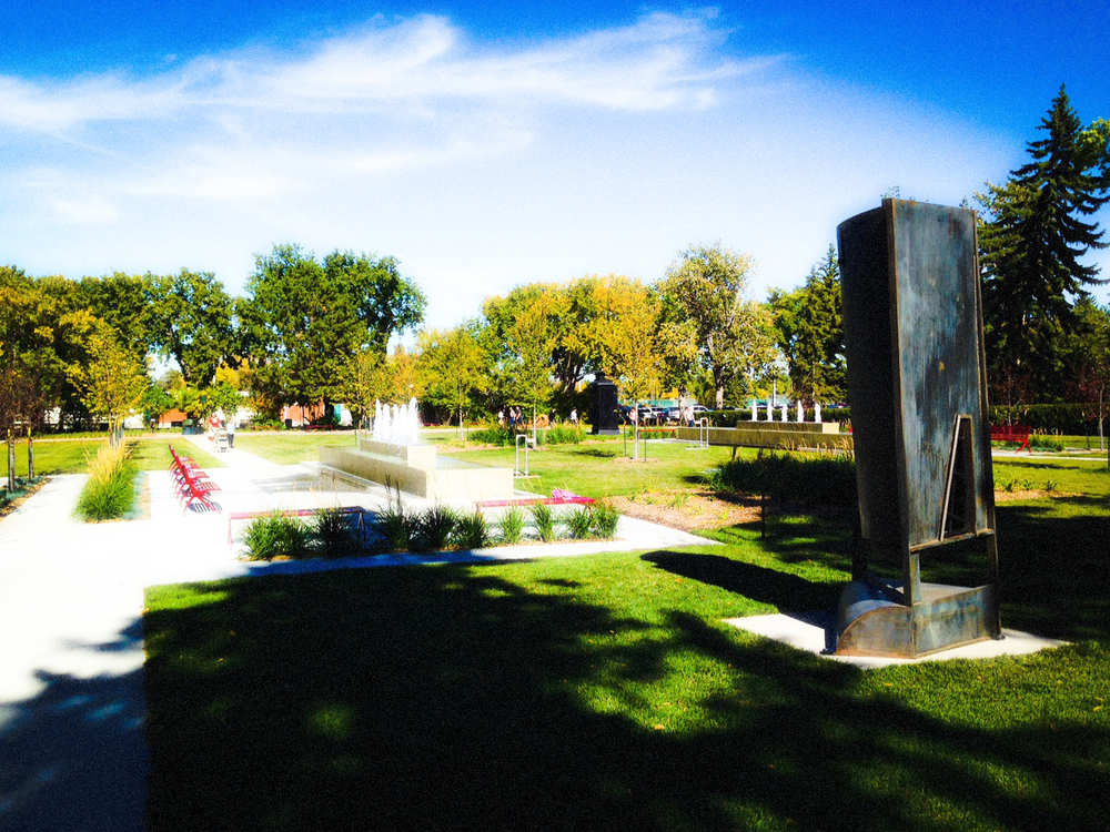Big Things In The Formal Garden, Borden Park, Edmonton, Alberta, VHS 2014