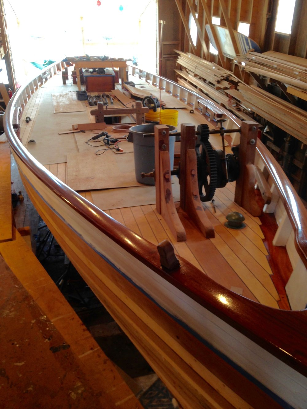 Abernethy & Gaudin BoatBuilders - Top side rebuild underway