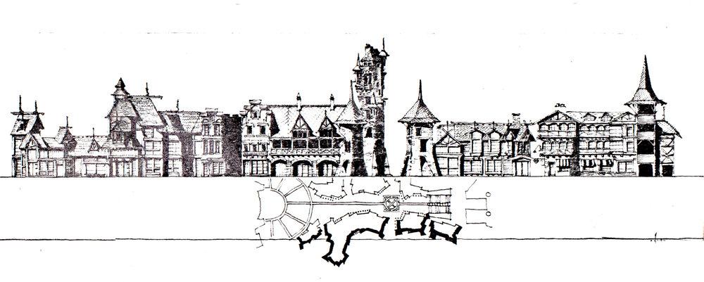 Elizabethan Theme Streetscape 2