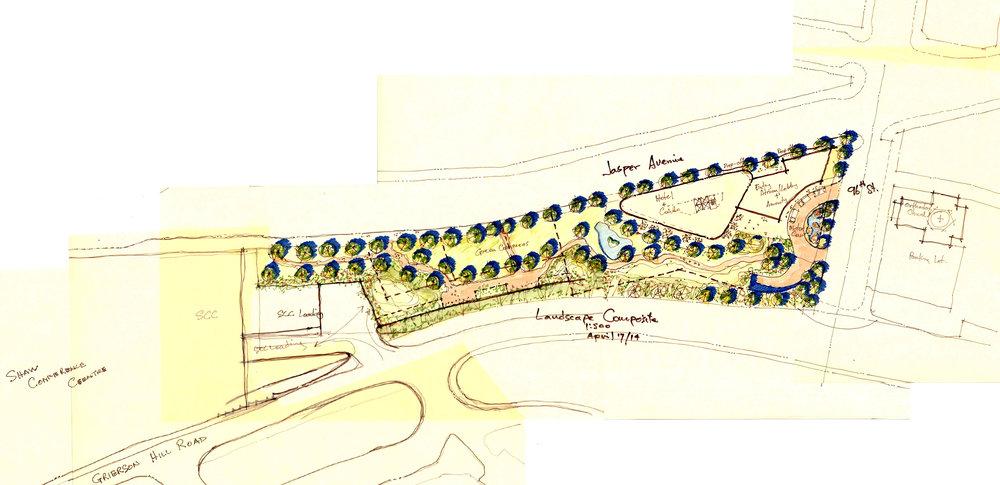 Quarters Hotel Site Plan Study Jasper Ave