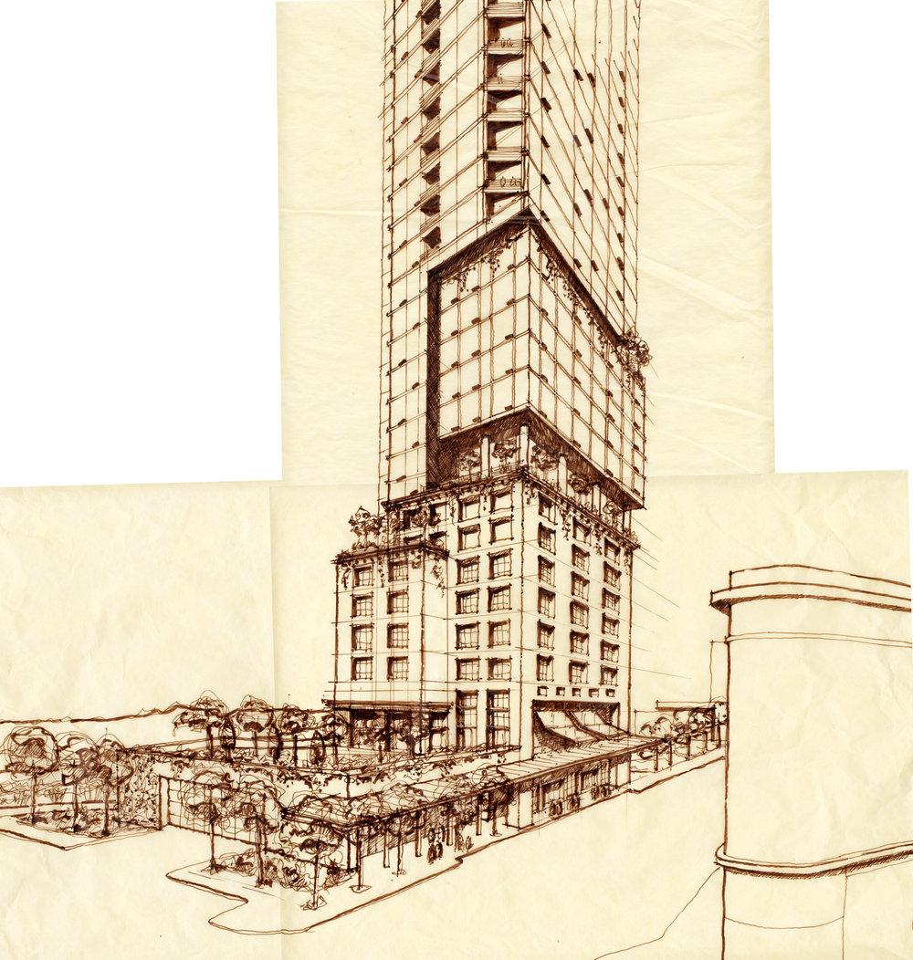 Quarters Hotel + Condominiums - Jasper Avenue Street study