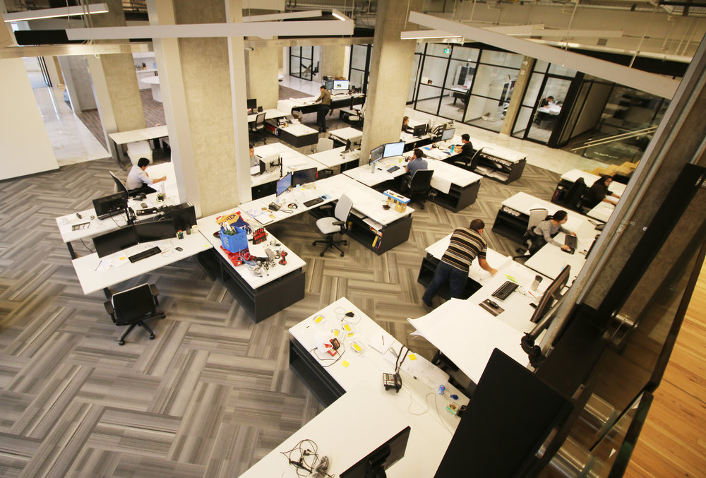 Engineering studio from Mezzanine