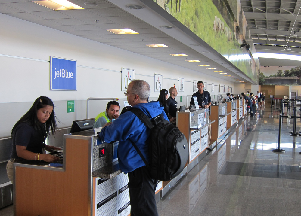 Departure Check-in at Airport