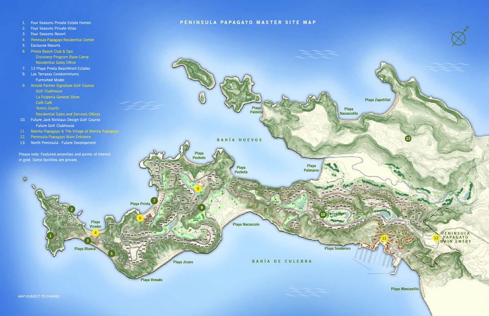 Peninsula Papagayo - CLICK TO ENLARGE