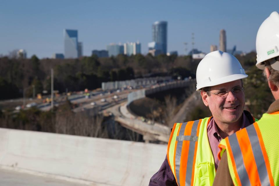 Dave Kaufman on GA 400 flyover ramps