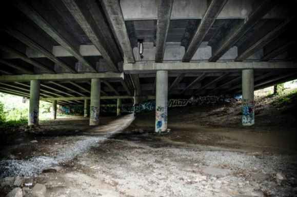 I-85 overpass on the Confluence Trail