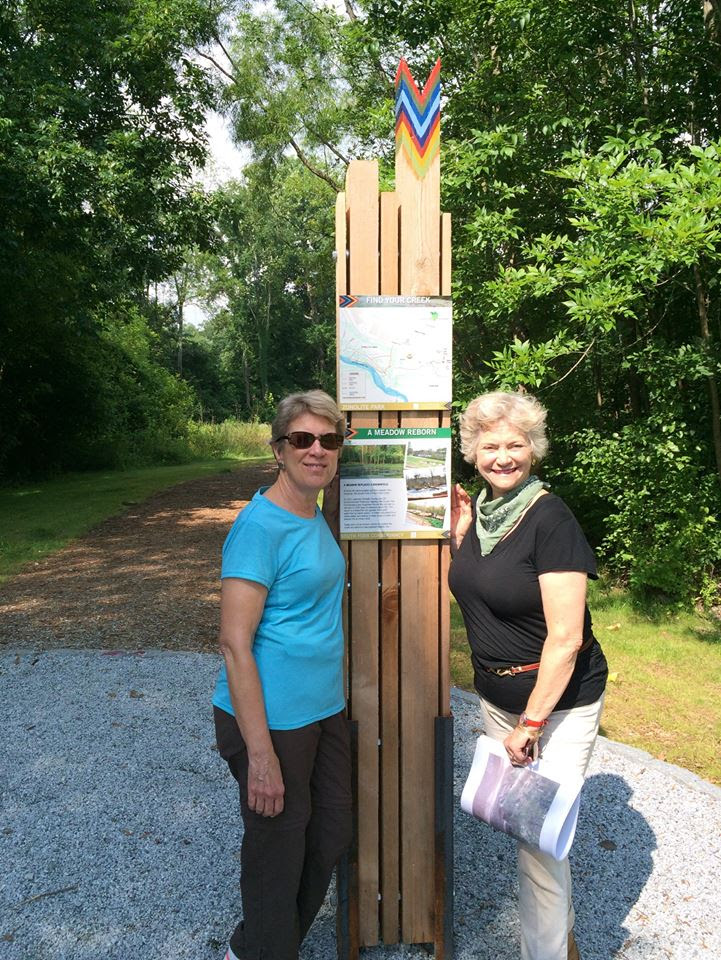 DeKalb County Commissioner Kathie Gannon with the South Fork's Sally Sears