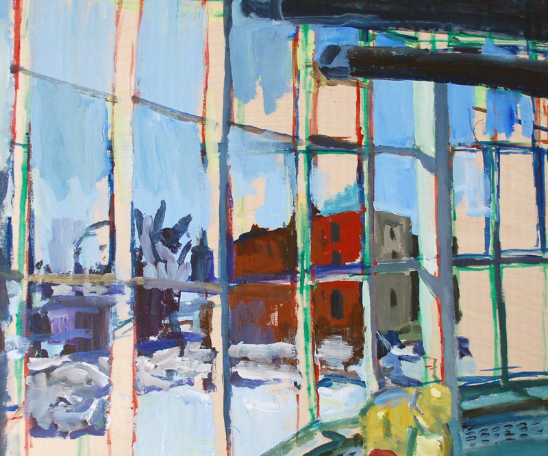 "Window, HMCS Chippawa, Acrylic on birch panel, 20"" x 24"", 2012, (series of 15)"