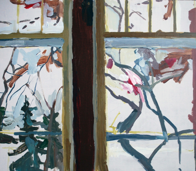 "Window, The Newcastle, Acrylic on birch panel, 20"" x 24"", 2012, (series of 15)"