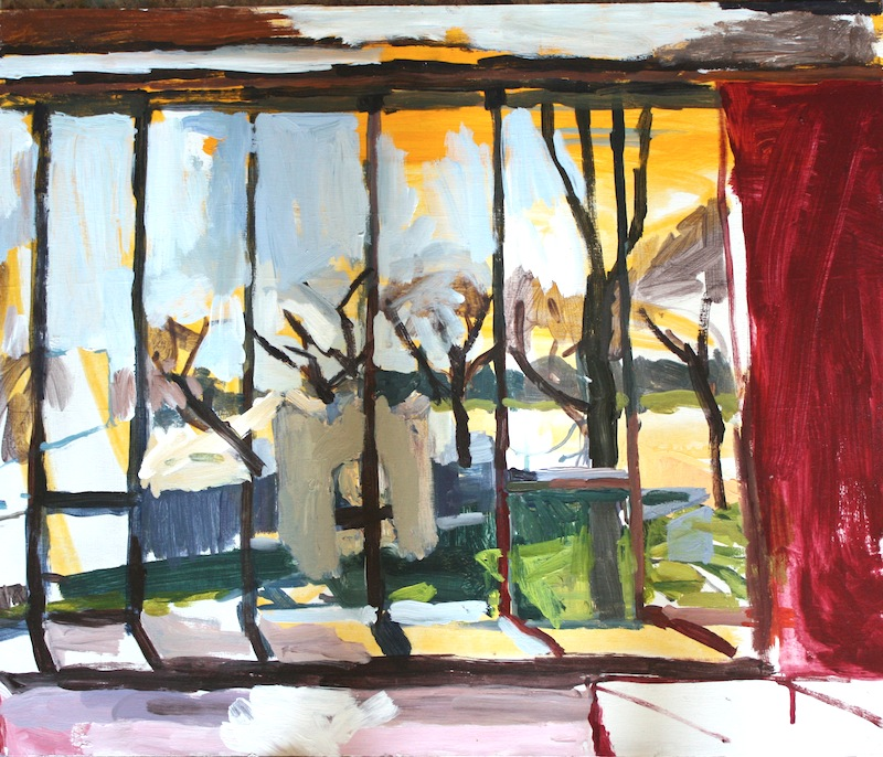 "Window, The Manitoba Club, Acrylic on birch panel, 20"" x 24"", 2012, (series of 15)"