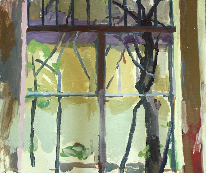 "Window, Palmer House, Acrylic on birch panel, 20"" x 24"", 2012, (series of 15)"