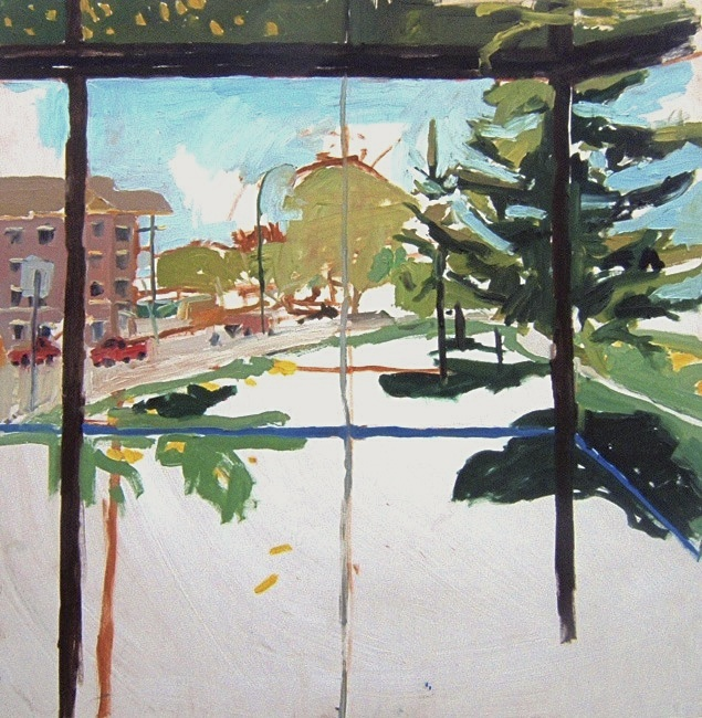 "Kingston Row South. 30"" x 30"" 2008 Oil on birch panel. (Series of 12)"